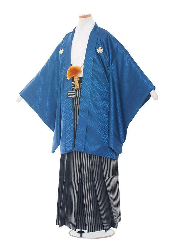 小学生卒業式袴レンタル(男の子)1403-8 紺/白