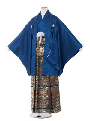 小学校 卒業式 男の子 袴1330 濃紺/金青袴85