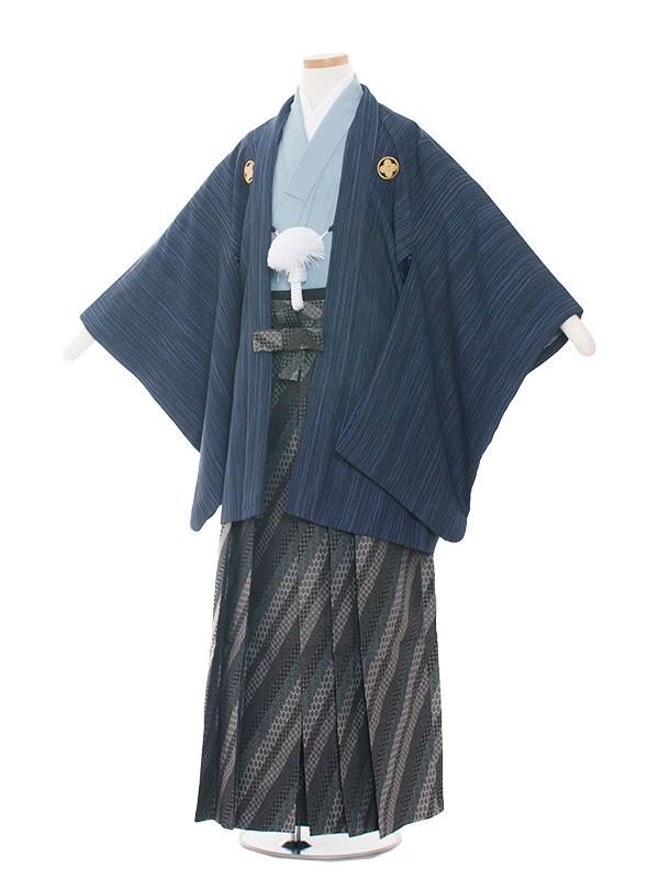 小学生卒業式袴男児1503-2紺/水色