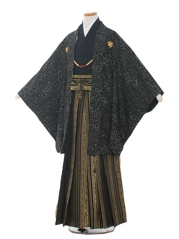 小学生卒業式袴男児1358 黒模様/袴