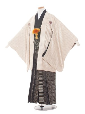 小学生卒業式袴レンタル(男の子)1388 シャンパンゴールド