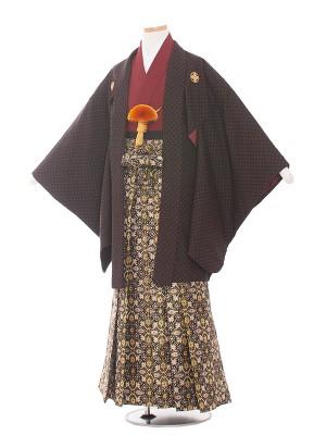 小学校 卒業式 男の子 袴1551深茶/ドット柄