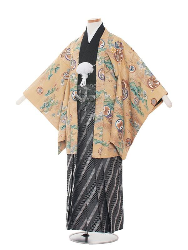 小学生卒業式袴レンタル(男の子)1386 からしおしゃれ小紋