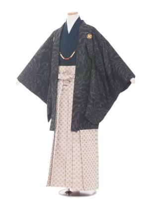 小学校 卒業式 男の子 袴1520黒地菊柄