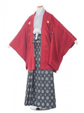 ジュニア(13男)1372-2 赤/グレー