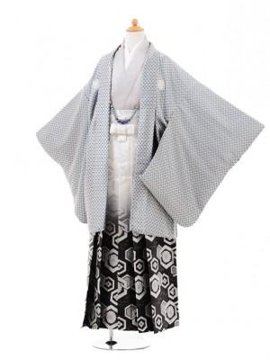 小学生 卒業式 袴 男児 0970水色斜格子×白黒ぼ