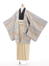 小学生卒業式袴男児0961シルバーベージュ×ベージ