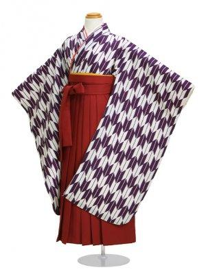 七五三袴5~7歳 矢絣紫 201【身長:114~122cm】卒園式