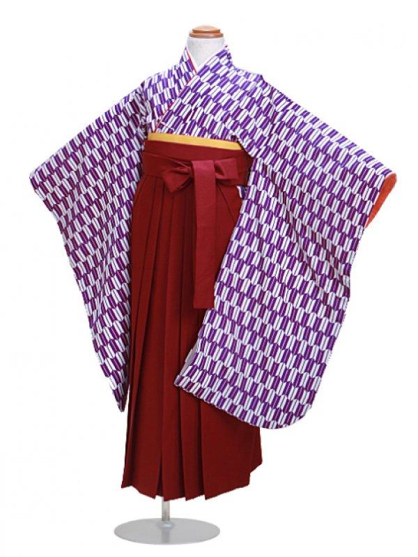 七五三袴5~7歳 矢絣紫 【身長:114~121cm】卒園式