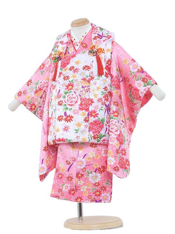 七五三(2女)2046 ピンク色/バラ