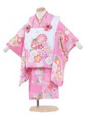 七五三(2女)2043 ピンク色/鞠絞り調