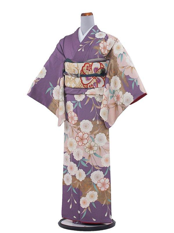 NEO訪問着 178藤色に桜/L