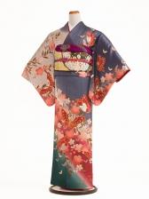 NEO訪問着 176桜と蝶の舞