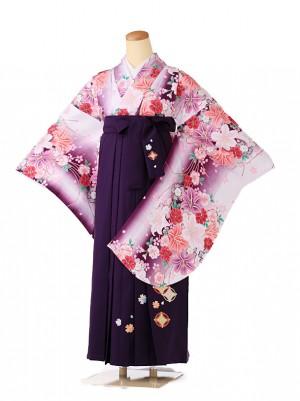 小学生卒業式袴レンタル(女の子) 紫 9217