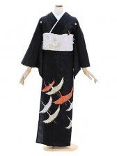 留袖(絽)12舞い鶴刺繍