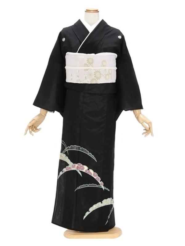 留袖(絽)7半雪輪刺繍