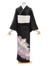 留袖(絽)29紫 小松に鳳凰