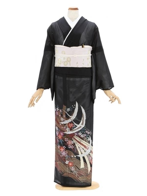 留袖(絽)38色青海 金束のし飛鶴