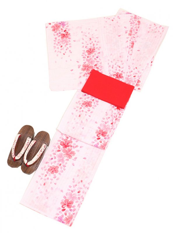 薄ピンク/桜 Y003 浴衣 女性