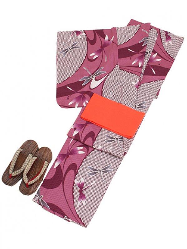 あずき色/とんぼ Y018 浴衣 女性