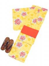 浴衣 女性 黄色/桜 Y012
