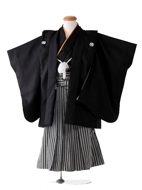 黒縞袴 黄色衿 3002