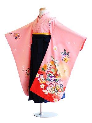 女児袴(7女)3-k3ピンク/桜・蝶|紺/無地