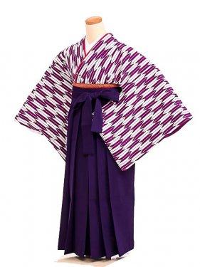 女袴s077紫矢羽/紫無地