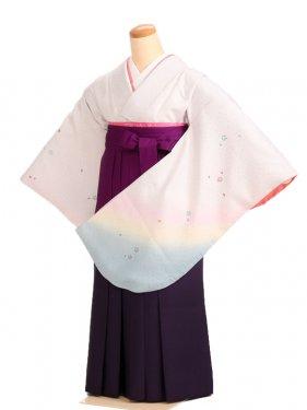女袴s050白地に桜ぼかし/紫ぼかし