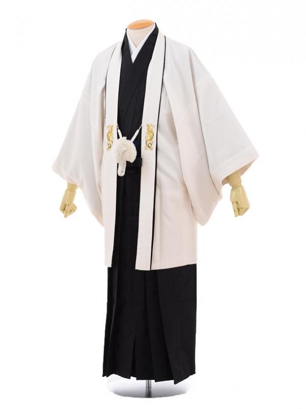 卒業式成人式袴レンタル172式部浪漫アイボリー×黒