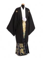 卒業式成人式袴レンタル184黒紋付[竜馬]×紺ゴー