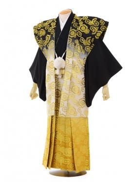 卒業式成人式袴レンタル142黒紋付陣羽織×ゴール