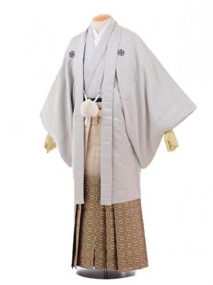 卒業式成人式袴レンタル147白黒唐草紋付×黒ゴー