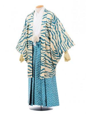 卒業式成人式袴レンタル145ブルートラ柄×メタリックブルー