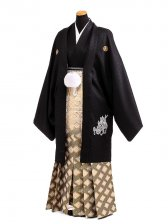 卒業式成人式袴男レンタル100*8/黒竜神/菱ボカシ