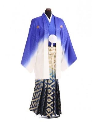 卒業式成人式袴レンタル196紫ぼかし紋付×紺金