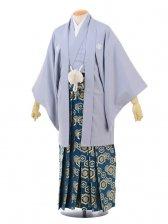 卒業式成人式袴レンタル170グレー紋付裃付き×グリ