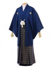 卒業式成人式袴レンタル144紺紋付×紺ゴールド袴
