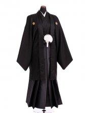 卒業式成人式袴男レンタル117*8/黒龍馬/縦縞袴