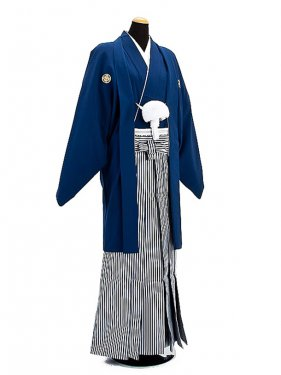卒業式成人式袴男レンタル010*5/金紋紺紋付袴
