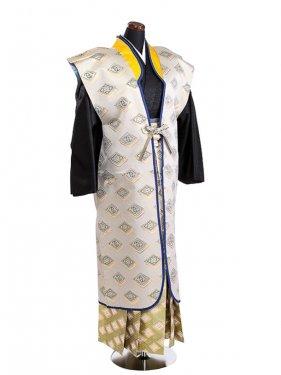 卒業式成人式袴男レンタル085*8/金菱紋陣羽織