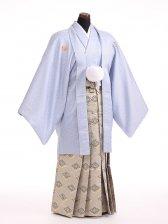 卒業式成人式袴男レンタル095*6/ブルーグレー/菱紋