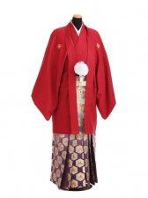 卒業式成人式袴レンタル197赤紋付×紫金ぼかし