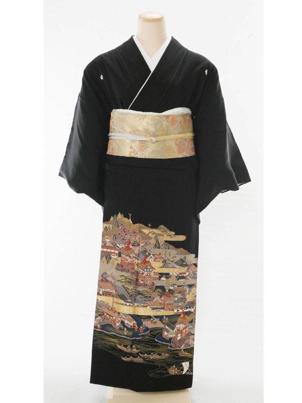 黒留袖5074雲型祇園祭