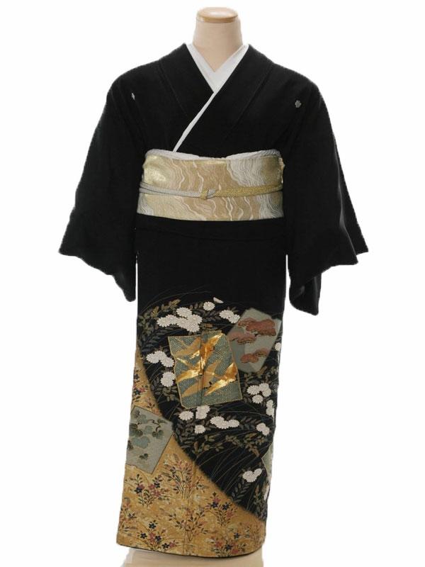黒留袖5107秋花とカルタ