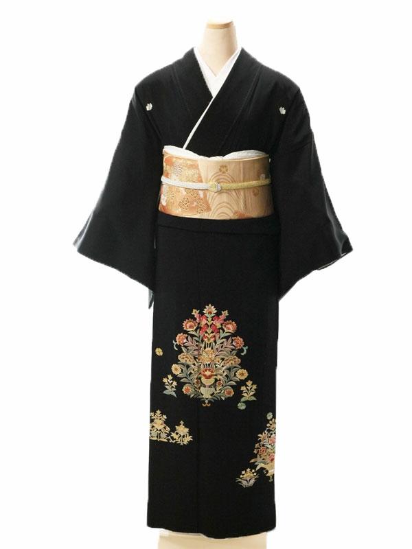 黒留袖5075洋花かご