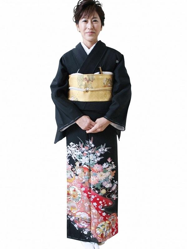 黒留袖5091L京のおしどり