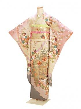 振袖 成人式 卵色・ピンク 0154