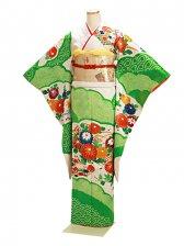 振袖 成人式 緑しぼり 0064