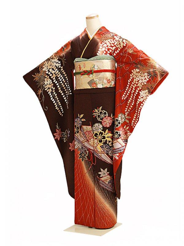 振袖 成人式 茶 0184